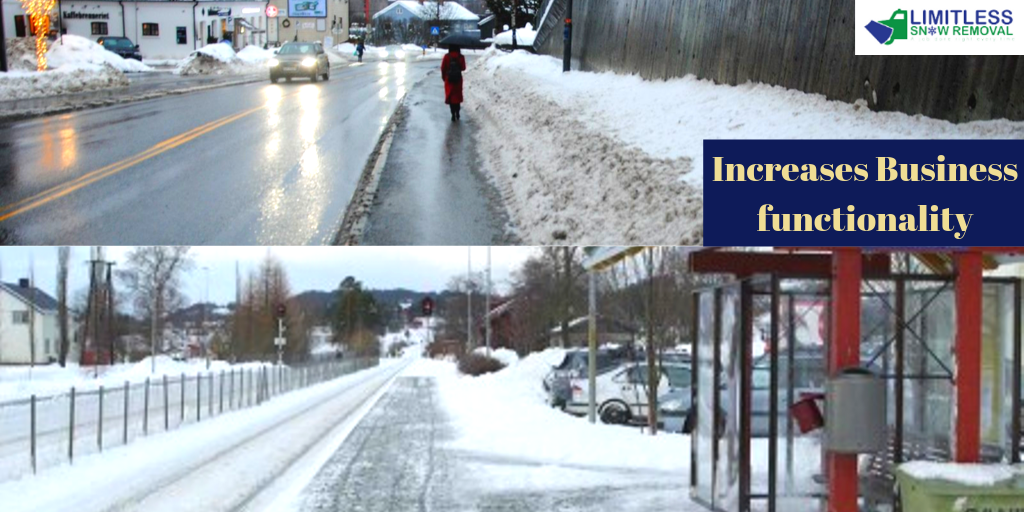 Clear Commercial Roads after Snowfall